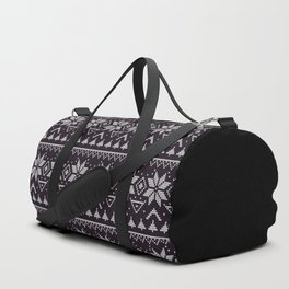 Knitted Christmas pattern in retro style 5 Duffle Bag