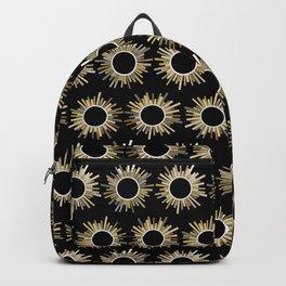 Art Deco Starburst in Black Backpack