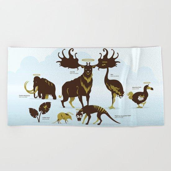 God's Zoo Beach Towel