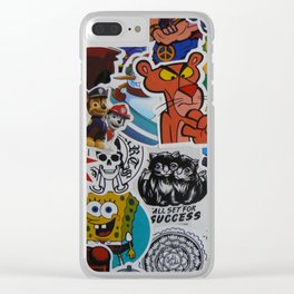 Sticker Collage Number Twelve Clear iPhone Case