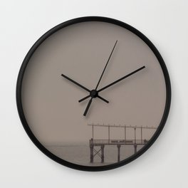 Fishing Pier, C Wall Clock