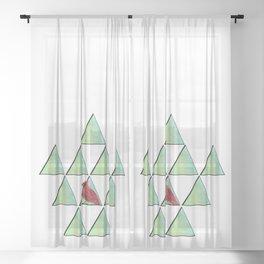Cardinal Sheer Curtain
