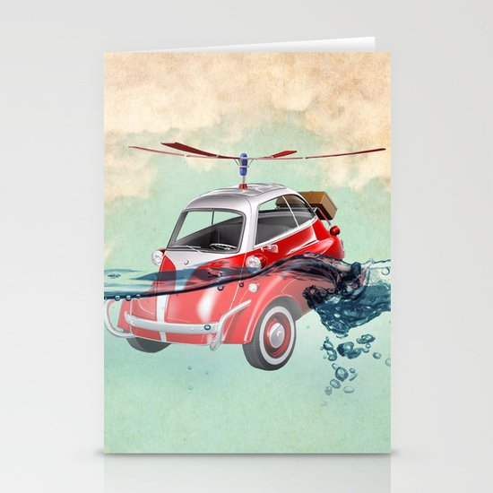 Isetta  all terrain vehicle Stationery Cards