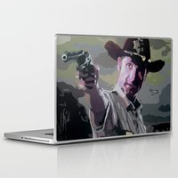 rick grimes Laptop & iPad Skins featuring Rick Grimes by Processed Image