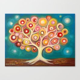 Tree of life with colorful abstract circles Canvas Print