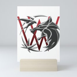 White wolf Mini Art Print