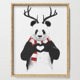 Xmas panda Serving Tray