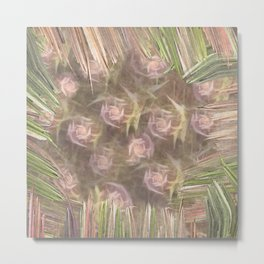 Framed Roses Metal Print