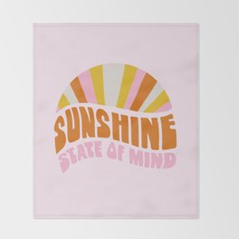 sunshine state of mind, type Throw Blanket