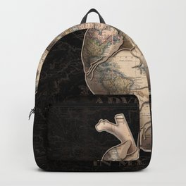 adventure heart-world map Backpack