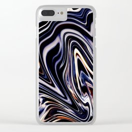 Flamboyant Marble Clear iPhone Case
