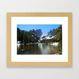 High mountain lake, Colorado Framed Art Print