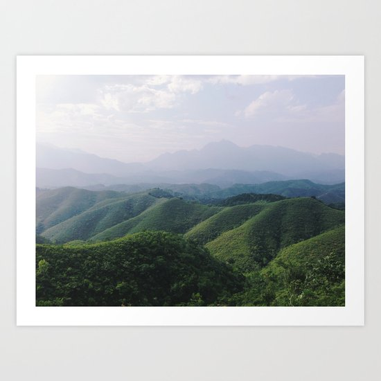 Sunny Mountains Art Print