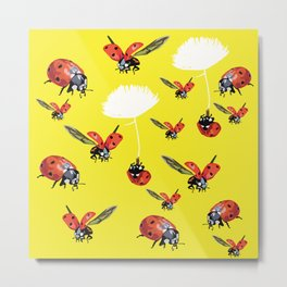 Ladybirds Metal Print