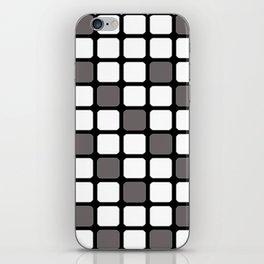 BLACK GREY AND WHITE RECTANGLE TILE  {BASIcs JHD} iPhone Skin
