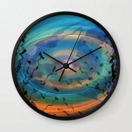 Underwater Moonlight Wall Clock