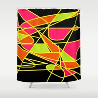 art deco Shower Curtains featuring DECO by ....