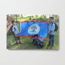 Belizean Pride Metal Print