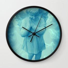 Little Angel In Blue Wall Clock