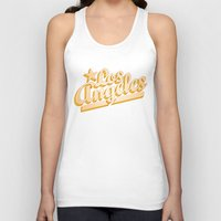 los angeles Tank Tops featuring Los Angeles by GetSolidGold