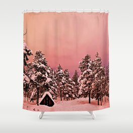 Magic of frozen forest Shower Curtain