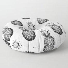 Black & White Pineapple Floor Pillow