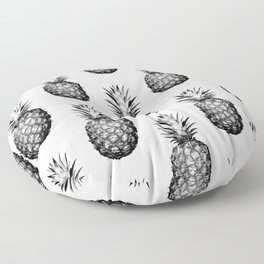 Black & White Pineapple Floor Pillow