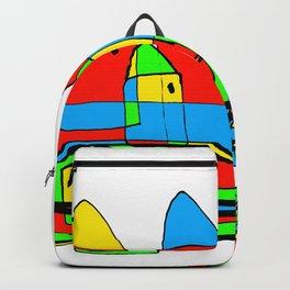 Colored Little Village for Kids Backpack