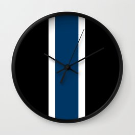 TEAM COLORS 10....NAVY AND BLACK Wall Clock