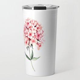 Watercolor flower phlox Travel Mug