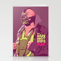 bane Stationery Cards featuring BANE by Mike Wrobel