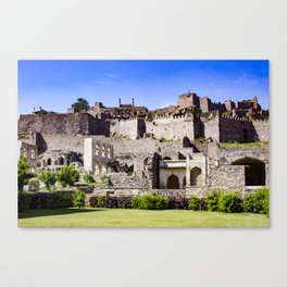 Looking up at Golconda Fort in Hyderabad, India Canvas Print