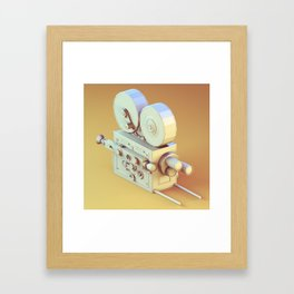 Low Poly Film Camera Framed Art Print