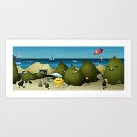 Sea stories Art Print