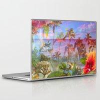 hawaiian Laptop & iPad Skins featuring HAWAIIAN ESCAPE  by Lauren Taylor Creations