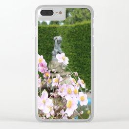 Flowers and Fountains Clear iPhone Case