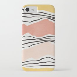 Modern irregular Stripes 01 iPhone Case