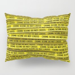Crime scene / 3D render of endless crime scene tape Pillow Sham