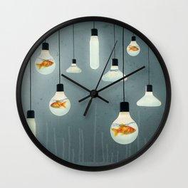 Ideas and Goldfish 04 Wall Clock