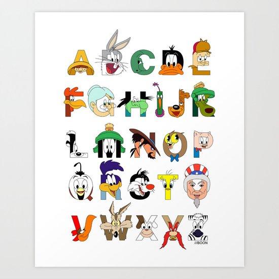 That's Alphabet Folks Art Print