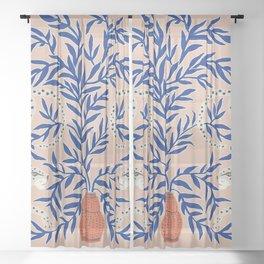 Leopard Vase Sheer Curtain
