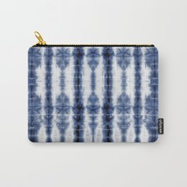 Tiki Shibori Blue Carry-All Pouch