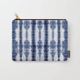 Tiki Shibori Blue Carry-All Pouch