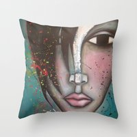 lolita Throw Pillows featuring LOLITA by Sandra Mucciardi