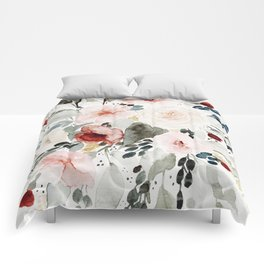 Loose Watercolor Bouquet Comforters