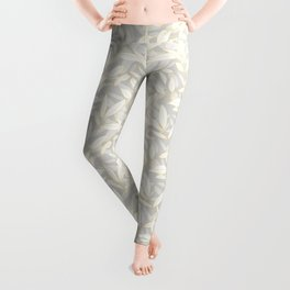Olive tree leaves - yellow and grey Leggings