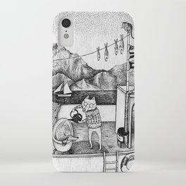 Fox on Fishing-boat iPhone Case
