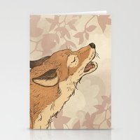 rabbit Stationery Cards featuring Fox and rabbit by Laura Graves