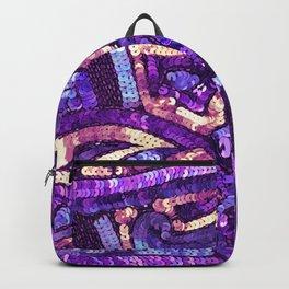Peach Purple Periwinkle Sequin Backpack
