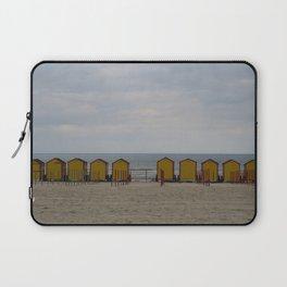 Yellow Huts on the Seashore Laptop Sleeve